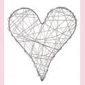 Coeur  fil Alu à suspendre